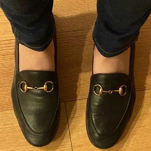 Black Gucci Brixton Leather Loafers